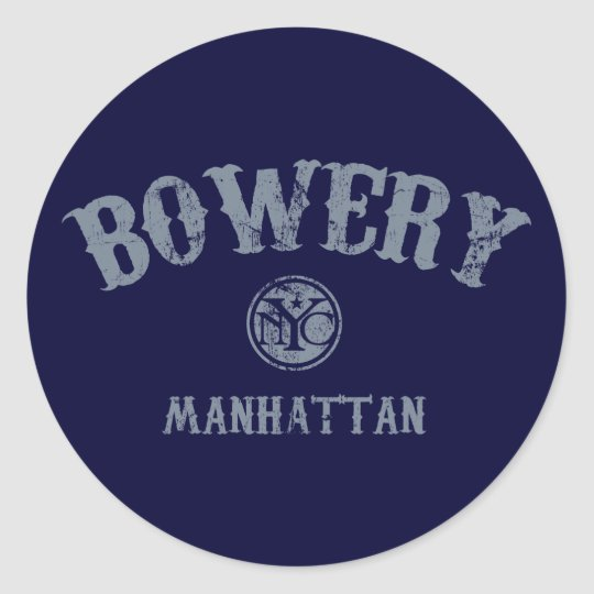 Bowery Classic Round Sticker