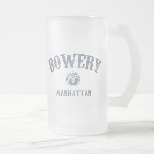 Bowery Frosted Glass Beer Mug