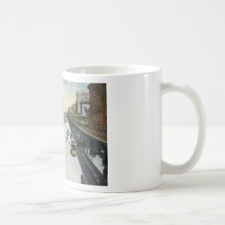 Bowery, New York c1915 Vintage Coffee Mug