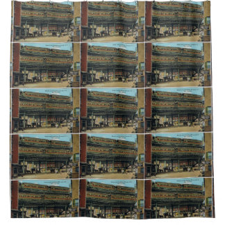 Bowery NYC Double Decker Elevated Train Shower Curtain