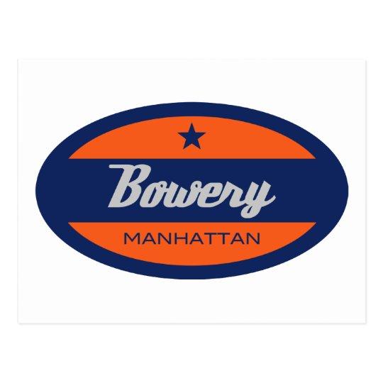 Bowery Postcard