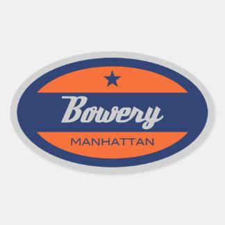 Bowery Oval Sticker