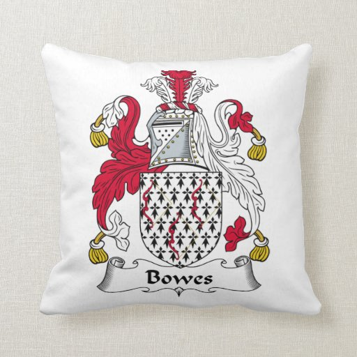 Bowes Family Crest Pillow