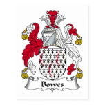 Bowes Family Crest Post Card