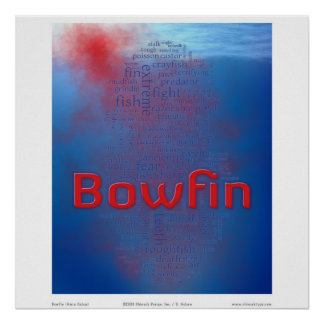 Bowfin: blood in the water posters