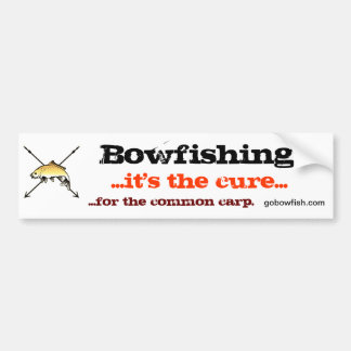 Bowfishing, the cure car bumper sticker