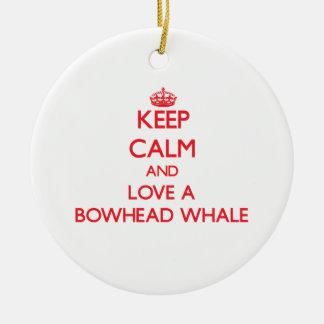 Bowhead Whale Christmas Ornaments