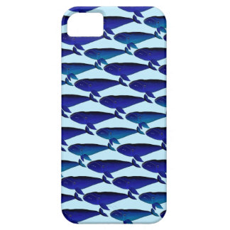 Bowhead Whale Pattern in Blue iPhone SE/5/5s Case