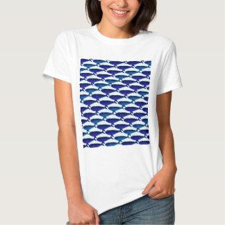 Bowhead Whale Pattern in Blue Shirt