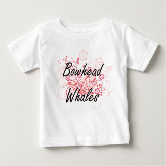 Bowhead Whales with flowers background Shirt