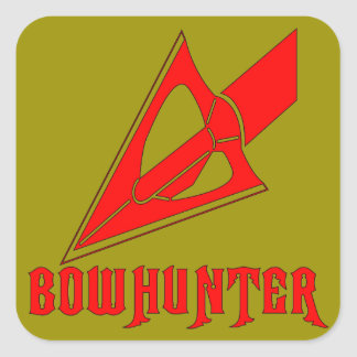 Bowhunter Broadhead Arrowhead Square Sticker