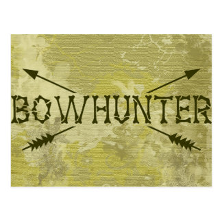 Bowhunter Crossed Arrows Postcard