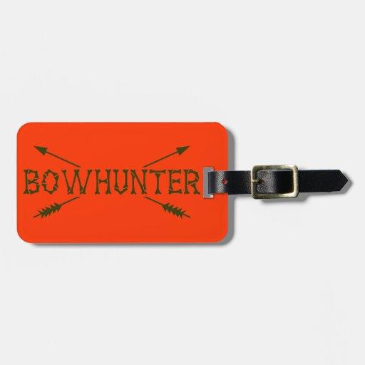 Bowhunter cruzó flechas etiquetas maleta