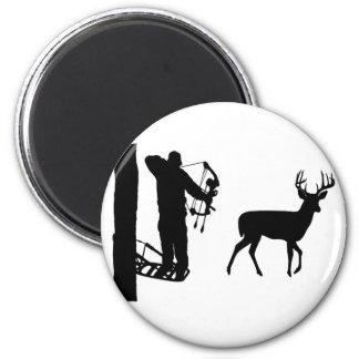 Bowhunter en ciervos del tiroteo de Treestand Imán Redondo 5 Cm