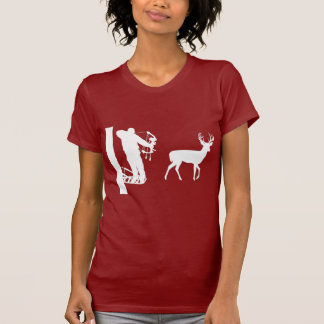 Bowhunter in Treestand Shooting Deer T-Shirt