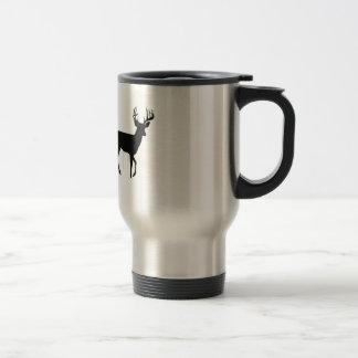 Bowhunter in Treestand Shooting Deer Travel Mug