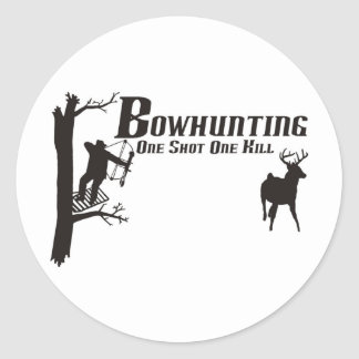 bowhunting t-shirts classic round sticker