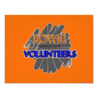 "Bowie High School Volunteers - Arlington, TX 4.25"" X 5.5"" Invitation Card"