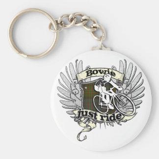 Bowie Just Ride Keychain