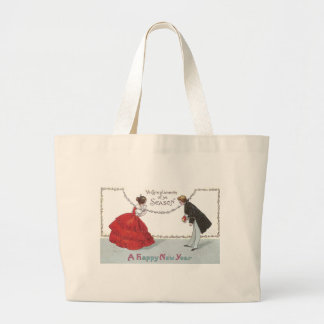Bowing Ball Goers in Fancy Dress Large Tote Bag