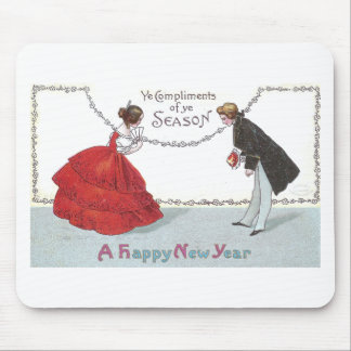 Bowing Ball Goers in Fancy Dress Mouse Pad