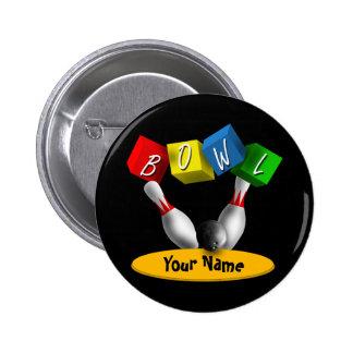 Bowl a Rama Bowling Pinback Button