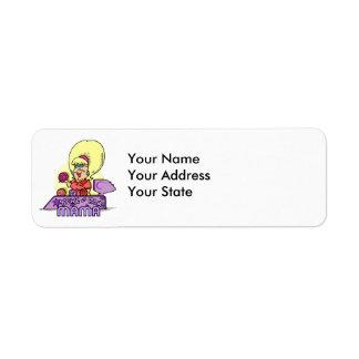 bowl-a-rama mama return address label