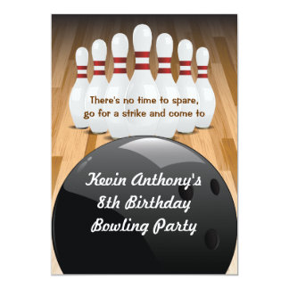 Bowl a Strike Party Invitation