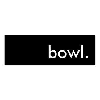 bowl. business card templates