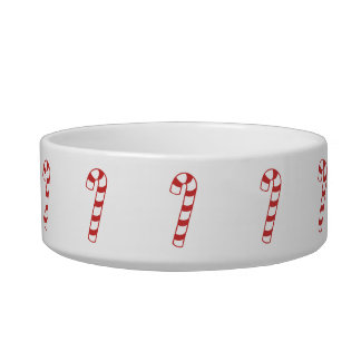 Bowl - Candy Cane Cat Food Bowl
