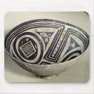 Bowl decorated with a geometric pattern mouse pad