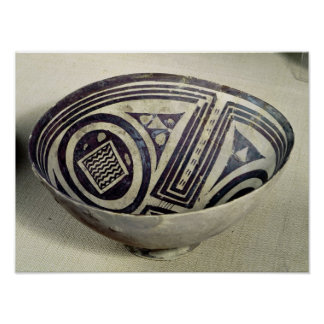 Bowl decorated with a geometric pattern poster
