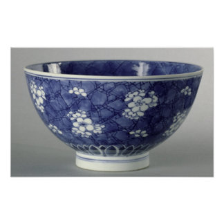 Bowl decorated with cherry blossom posters