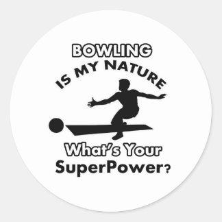 bowl design classic round sticker