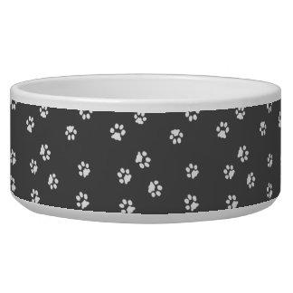 Bowl Dog/Cat Gray Legs White/