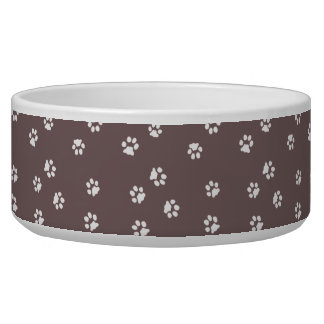 Bowl Dog/Maroon Cat Legs White/