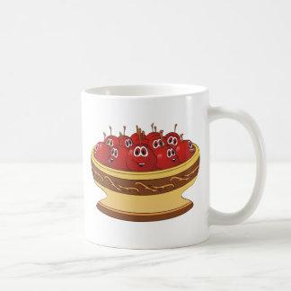 Bowl full of Cherries Cartoon Coffee Mug