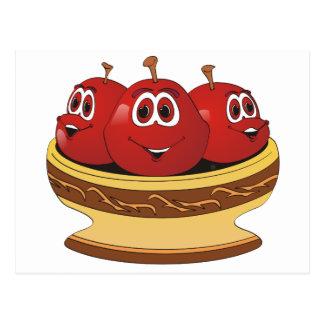 Bowl full of Cherries Cartoon Postcard