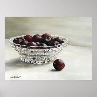 Bowl Full of Cherries Oil Painting Print