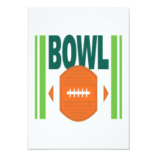 "Bowl Game 5"" X 7"" Invitation Card"