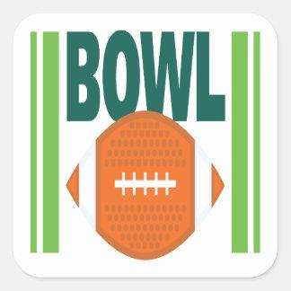 Bowl Game Square Sticker