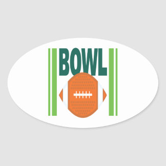 Bowl Game Oval Sticker