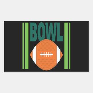Bowl Game Rectangular Sticker