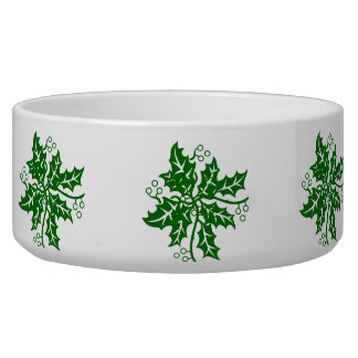 Bowl - Green Holly Clusters
