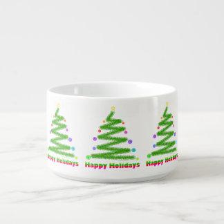 BOWL - HAPPY HOLIDAYS CHRISTMAS TREE DESIGN