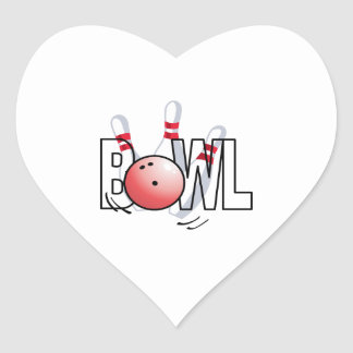BOWL LARGE SIZE HEART STICKERS