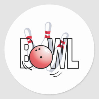 BOWL LARGE SIZE ROUND STICKERS