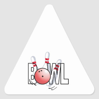 BOWL LARGE SIZE TRIANGLE STICKER
