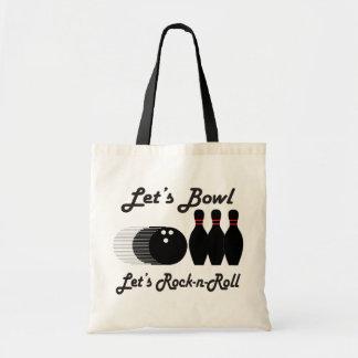 Bowl Let's Rock-n-Roll Budget Tote Bag
