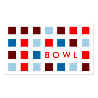 BOWL (mod squares) Double-Sided Standard Business Cards (Pack Of 100)